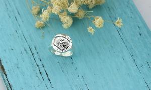Justyling: Ring aus Sterlingsilber mit eingraviertem Foto bei Justyling (bis zu 77% sparen*)