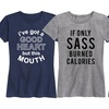 Women's I Run on Coffee & Sass Tees. Plus Sizes Available.