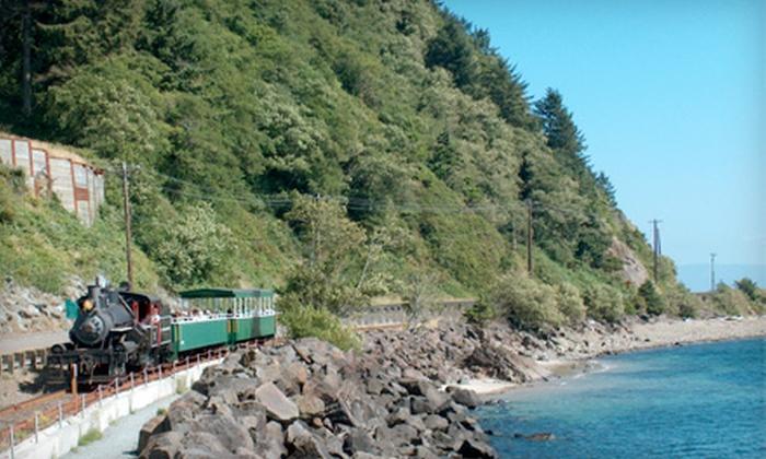 Oregon Coast Scenic Railroad - Garibaldi Depot: Coastal Train Excursion from Oregon Coast Scenic Railroad (Up to Half Off). 12 Options Available.