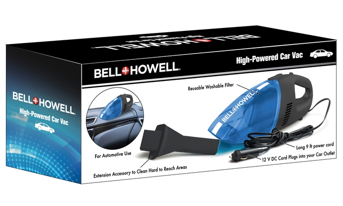 Bell Howell Car Vacuum Cleaner Groupon