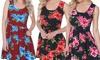 Women's Floral Crystal Dress