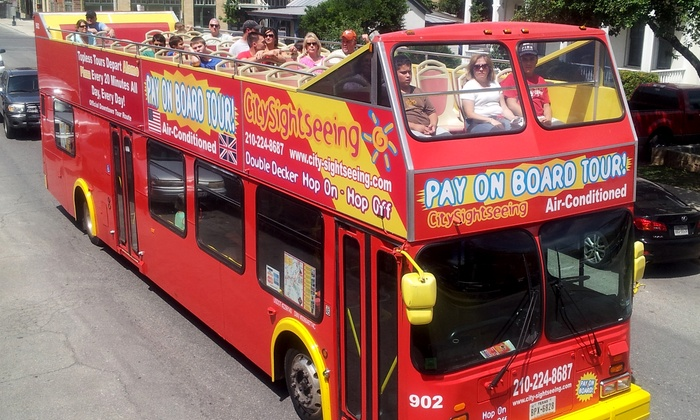 City Sightseeing San Antonio - City Sightseeing San Antonio: Double-Decker Bus Tour for Two, Four, Six, Ten, or a Family of Five from City Sightseeing San Antonio (Up to 51% Off)