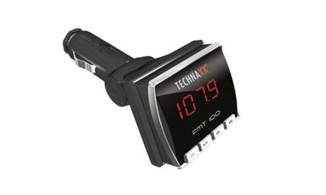 Transmisor FM para coche con puerto USB y lector de tarjetas MicroSD