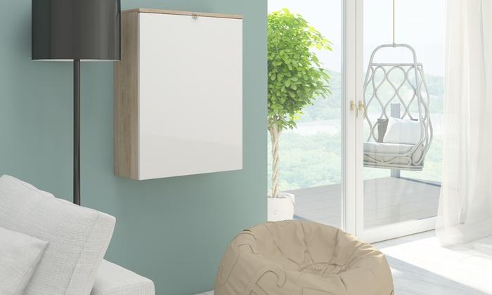 bureau mural pliable groupon shopping. Black Bedroom Furniture Sets. Home Design Ideas