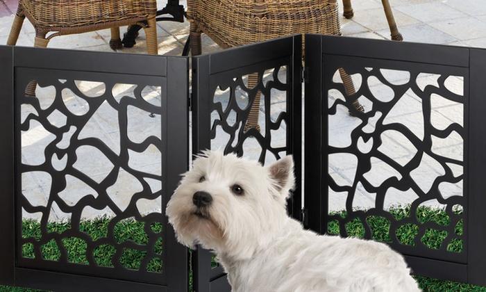 Zebra Pet Gate Folding Wooden Pet Gates