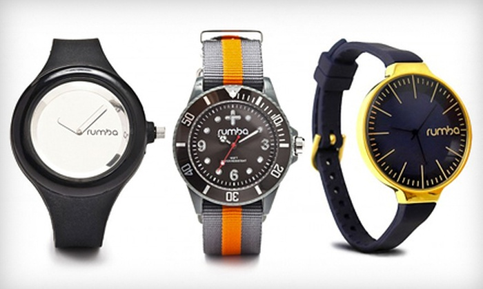 RumbaTime: $25 for $50 Worth of Sporty and Stylish Silicone Watches from RumbaTime