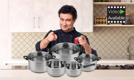 Batería de cocina Diva de 8 piezas San Ignacio Premium