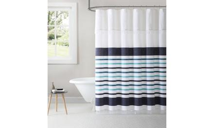 Shop Groupon Parker Stripe 100% Cotton Peshtemal Shower Curtain