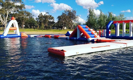 Aqua Park Session for One Person: Single ($16) or Double ($29) at Canberra Aqua Park (Up to $35 Value)