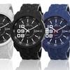 Joshua & Sons Men's Silicone Swiss Sport Watch