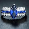 3.00 CTTW Sapphire Spinel and Cubic Zirconia Engagement Ring