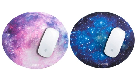 Insten Round Galaxy Mouse Pad