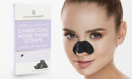 Pack de 6, 12 o 24 tiras de carbón vegetal para los poros Pretty Nose Oferta en Groupon