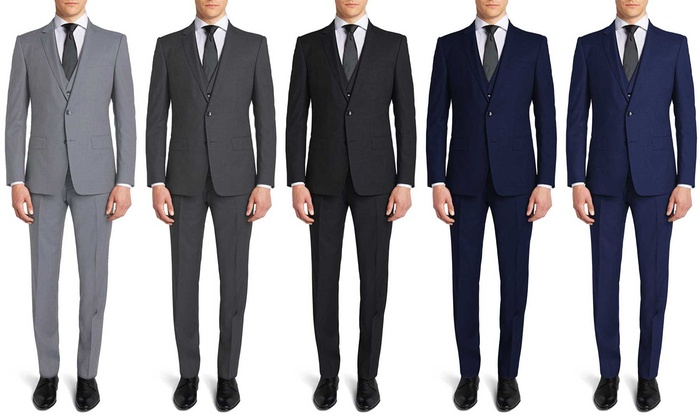 Gianni Uomo Men's Slim Fit Suits (3-Piece) | Groupon