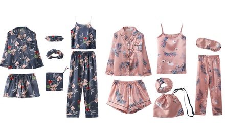 $39 for Seven-Piece Satin Silky Fabric Pyjama Set