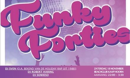 Tickets voor Funky Forties bij Beachclub Kaap Hoorn in Groningen