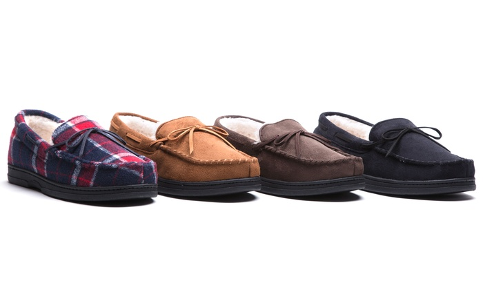 Oak & Rush Men's Moccasin Slippers | Groupon Exclusive