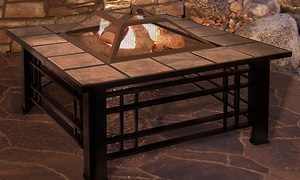 Fire Pit Set (Screen, Cover and Poker Included)