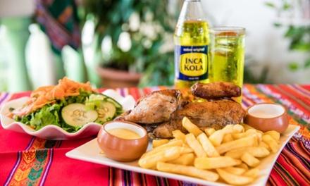Menú para 2 o 4 personas con entrante, principal, postre y bebida en Brasas Peruanas (hasta 62% de descuento)