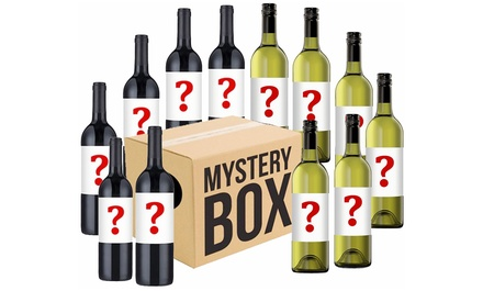 $54 for 12 Mystery Wine Bottles in Mixed Red, White, Shiraz, Chardonnay and Semillon Sauvignon Blanc (Don't Pay $129)