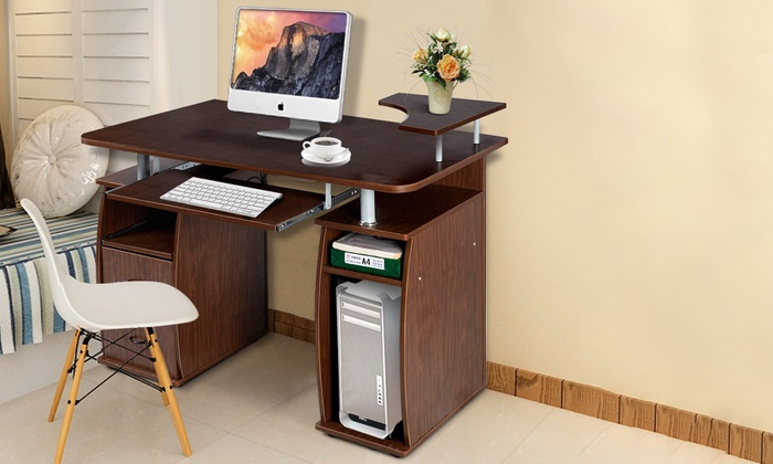 Superieur Home Office Computer PC Desk Work Station With Printer Shelf