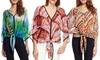 Chenault Printed Chiffon Blouses: Chenault Printed Chiffon Blouse | Brought to You by ideel