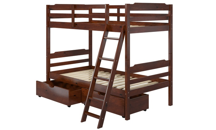Solid Pine Twin Size Bunk Beds Groupon Goods