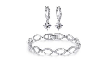 Bracciale e orecchini Infinity con cristalli Swarovski®