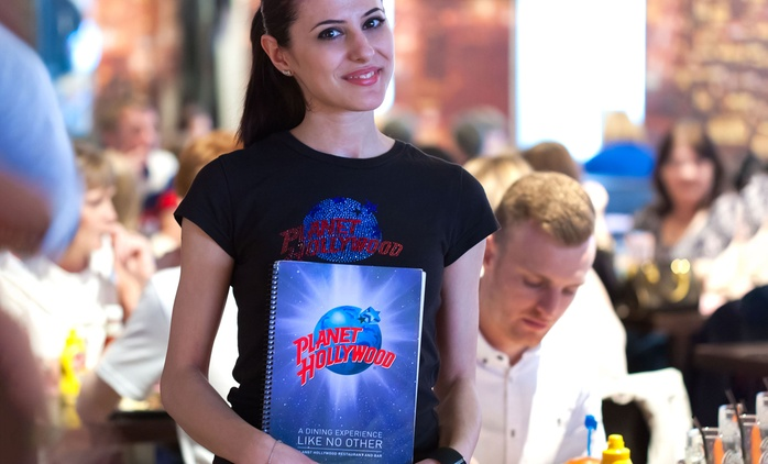 Two-Course or Three-Course Meal with Drink for Up to Six at Planet Hollywood