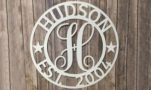 Personalized Family Name Metal Sign (Up to 50% Off)