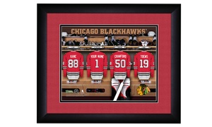 Prints That Rock: One Personalized Locker Room Print with Standard or Premium Frame from Prints That Rock (Up to 43% Off)