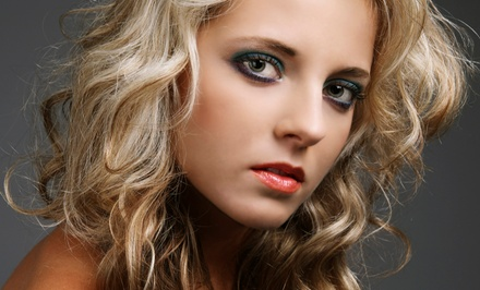 Haircut Package with Option of Partial or Full Highlights or Full Color (Up to 53% Off)