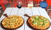 Garlic Pizza + Menu Pizza + Wine