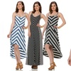 Seven7 Chevron-Print Maxi Dress