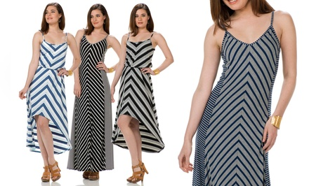 Seven7 Chevron-Print Maxi Dress