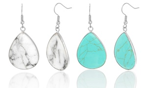 Turquoise or Marble Drop Earrings at NES Group, plus 9.0% Cash Back from Ebates.