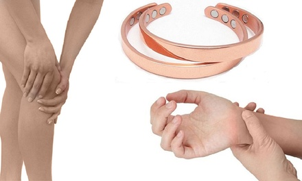 1 of 2 magnetische armbanden om gewrichtspijn te verminderen