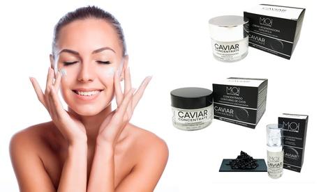 Anti-Anging-Kaviar-Gesichtspflege mit Serum, Creme, Augen-Kontur oder im Pack