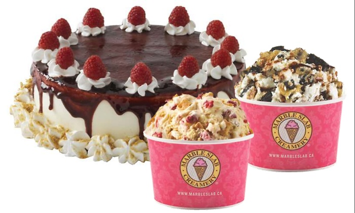 Two Small Ice Creams with One Mix In Each or C$11 for C$20 Worth of Ice Cream at Marble Slab Creamery
