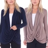 Women's Long-Sleeved Criss Cross Cardigan
