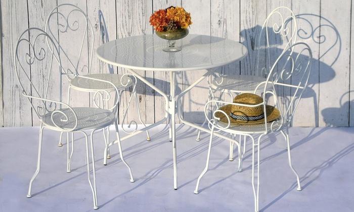 Mobili Da Giardino In Ferro : Set mobili da esterno in ferro groupon goods