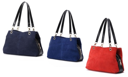 Women's Nubuck Suede Leather Handbags from £19.99 (78% Off)