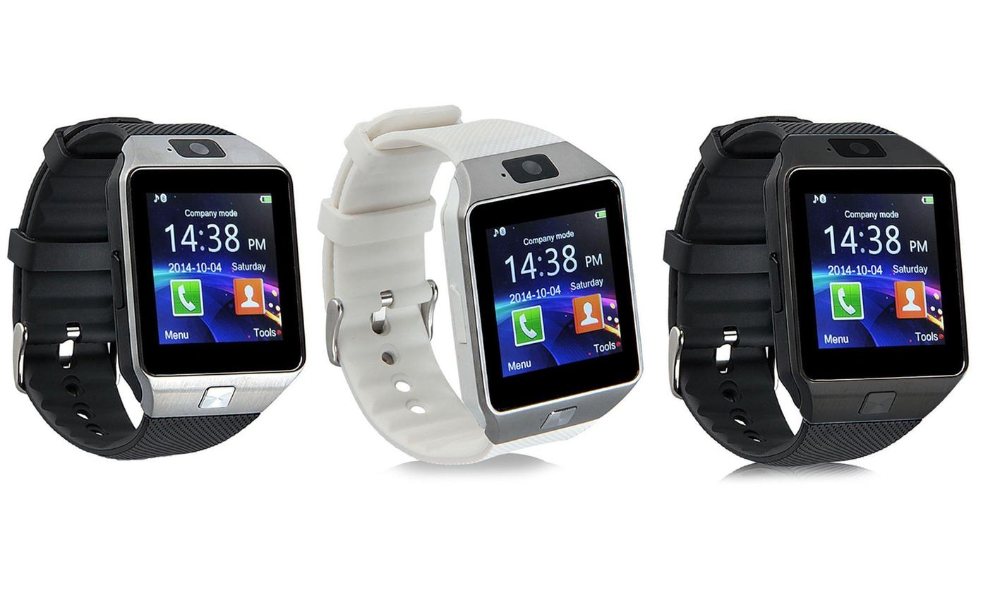 One or Two Smartwatches with Built-In Camera in a Choice of Colour