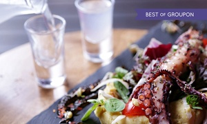 The Life Goddess: Two- or Three-Course Greek Lunch with Wine for One or Two at The Life Goddess (Up to 70% Off)