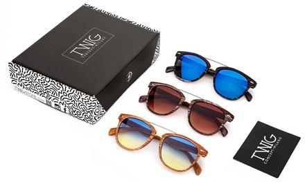 Set di 3 occhiali effetto legno by Twig