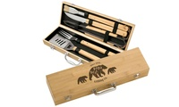 Personalized Bamboo BBQ Grill Sets from Lazer Designs