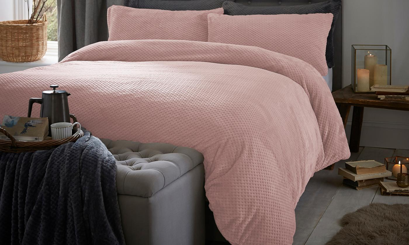 Silentnight Waffle Fleece Duvet Set for £26