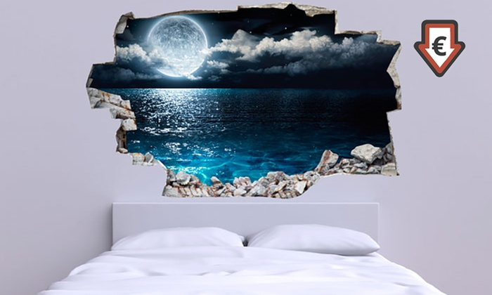 wandsticker mit 3d effekt groupon goods. Black Bedroom Furniture Sets. Home Design Ideas