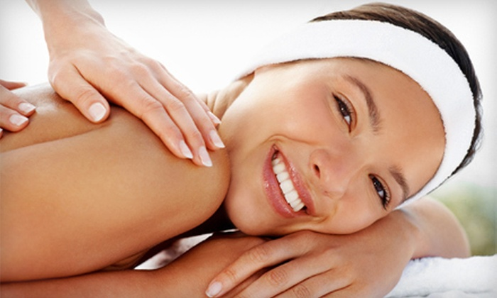 spaViolet - Solana Beach: $79 for a Spa Package with a Body Scrub, Hot-Stone Massage, and Infrared Body Wrap at spaViolet ($210 Value)