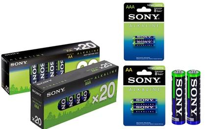 Batterie alcaline Sony AA e AAA
